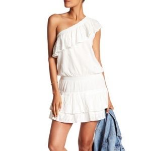 Joie Asymmetrical Ruffle mini dress size XS